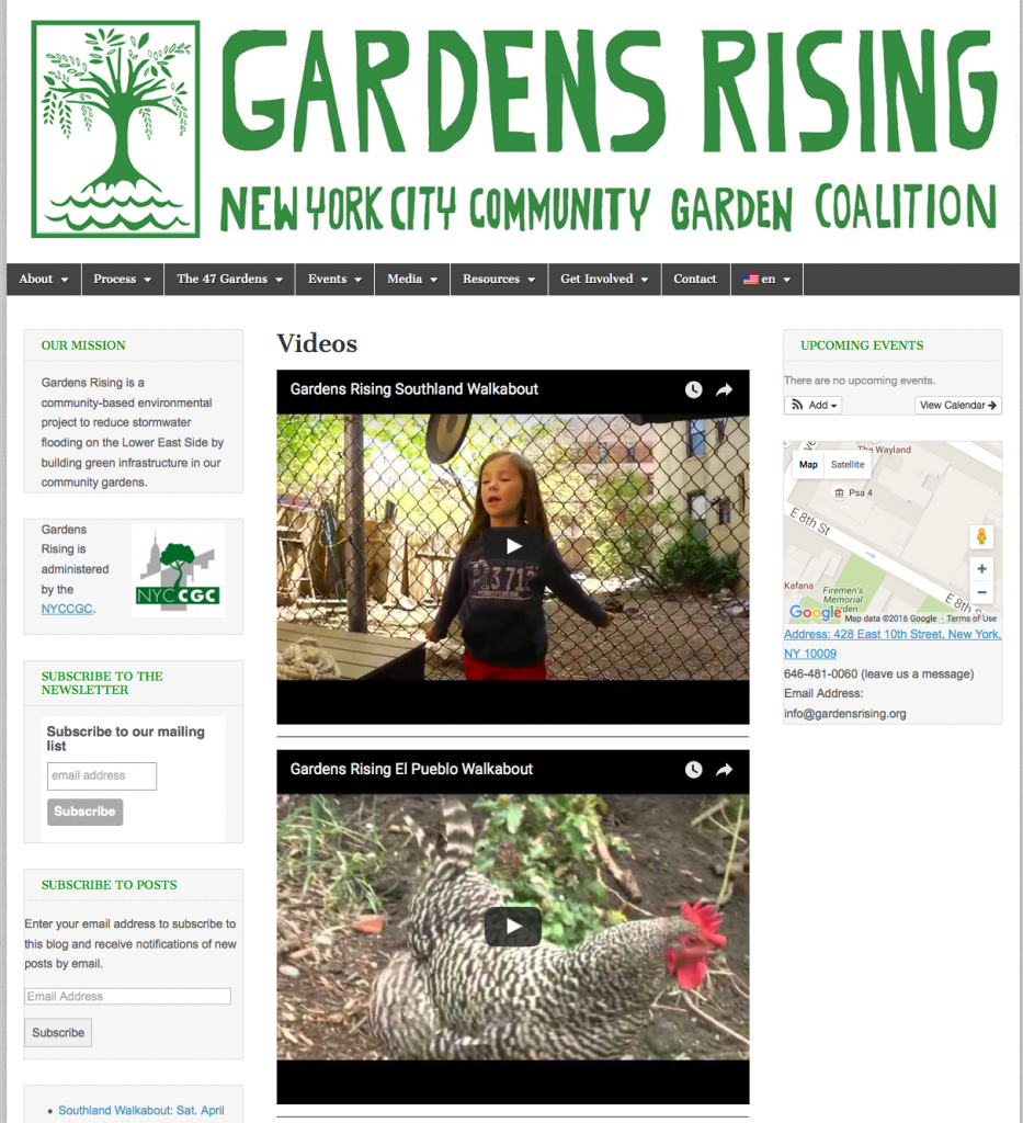 click the image to view Gardens Rising's webpage.
